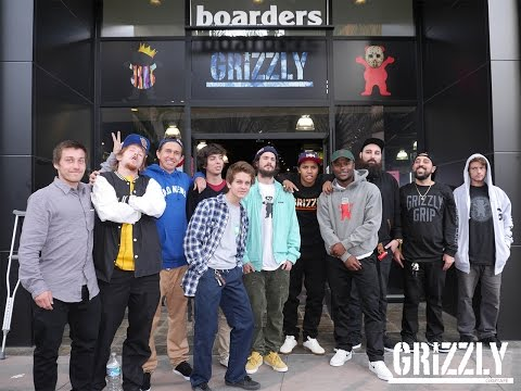 Grizzly Griptape Snapchat - Boarders Arcadia Team Signing 3-13-2016