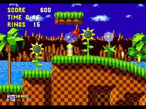 16-bit Splash Hill Music in Green Hill Zone