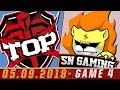 [05.09.2018] TOP vs SNG [LPL Hè 2018][Playoffs][Ván 4]