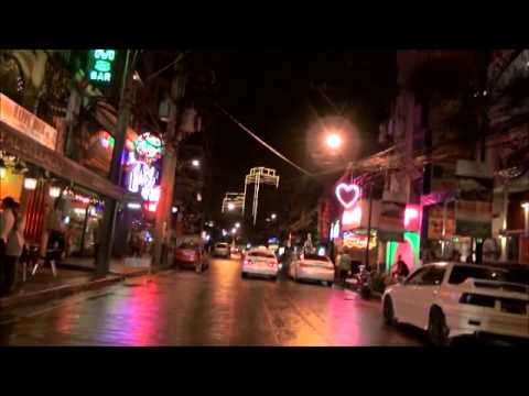 Burgos Street At Night Makati City Philippines Dec 26 2012 And A Swindler Filipino Taxi Driver.wmv video