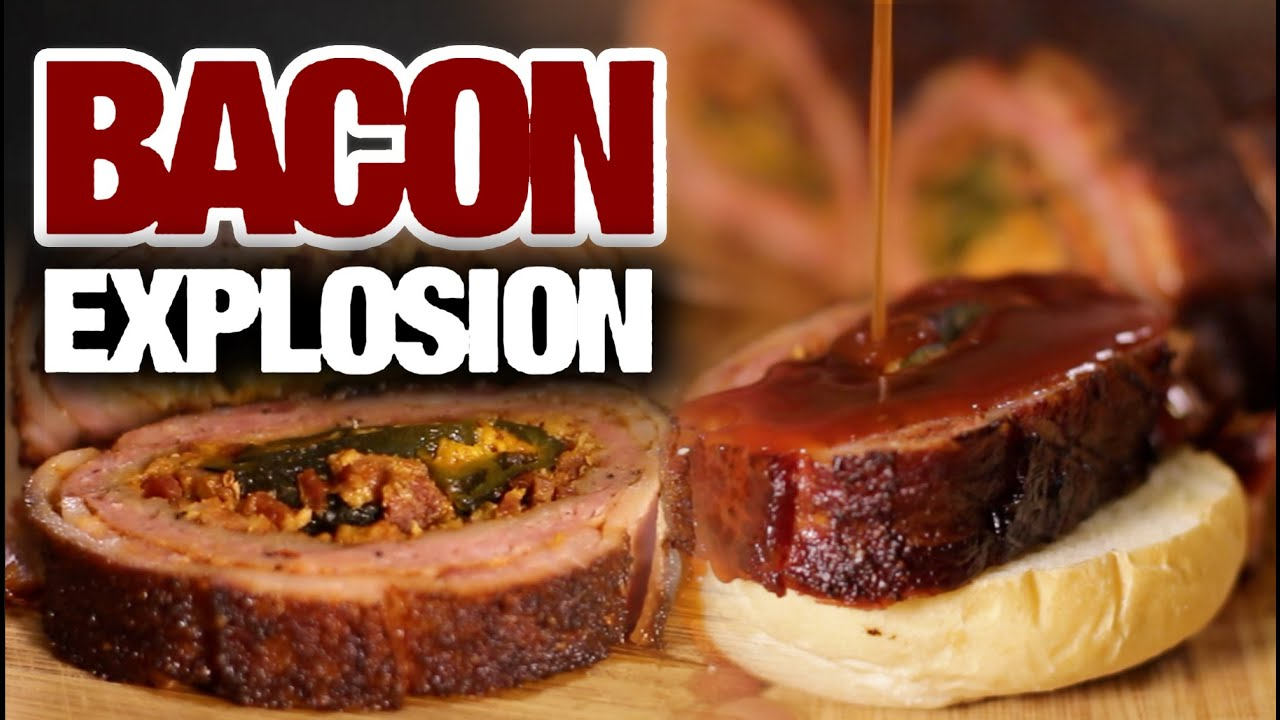 Bacon Explosion With Cheese Recipe The Bacon Explosion Recipe  