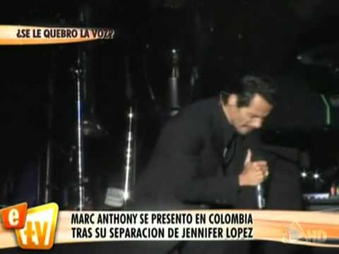 Marc Anthony  reaparece en Colombia ,tras su ruptura con Jennifer Lopez. Music Videos