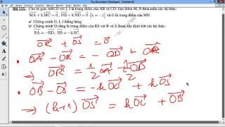 [TOÁN 10 HH] I.D PHÂN TÍCH VECTOR - Bài 41 155 [CỰC HAY] Bài toán thẳng hàng nhiều điều kiện