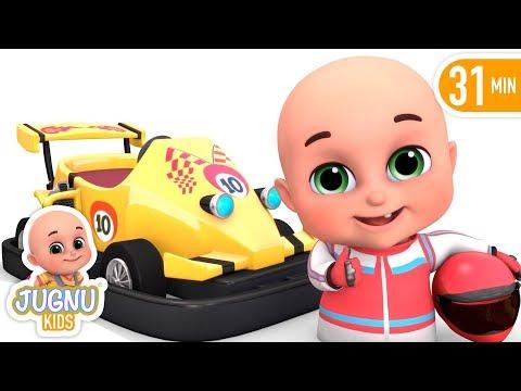 Go Kart Car Racing  - Kids Videos about Race Car toys - Kids playing videos by jugnu kids