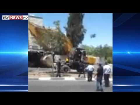 Digger Topples Bus In Israel 'Terror Attack'