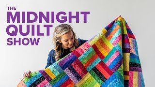 A Scrappy Stash-Buster Quilt Pattern | S7E7 Midnight Quilt Show with Angela Walters