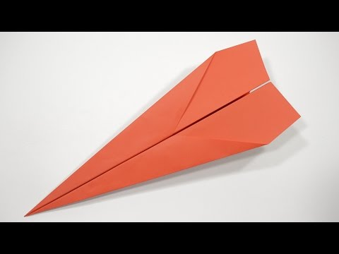 Как сделать из бумаги самый крутой по дальности полёта самолёт.