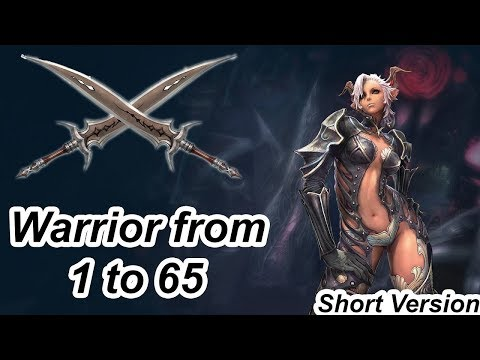 TERA Online - Warrior from Lvl 1 to 65 - Short Video