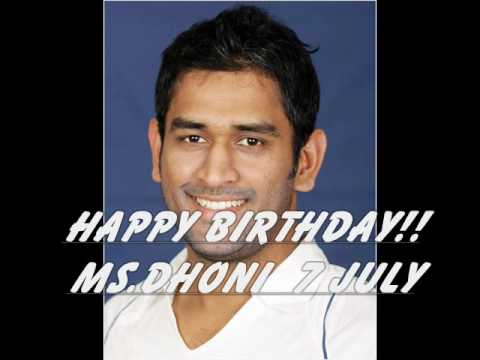 Happy Birthday MS.Dhoni