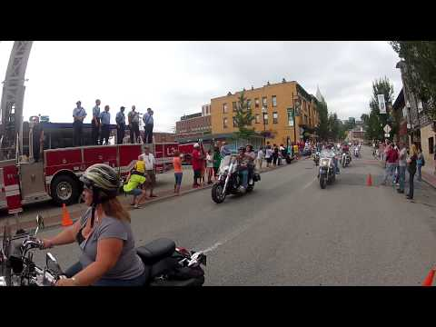 Parade of Motorcycles, Morgantown, WV--Mountainfest 2013