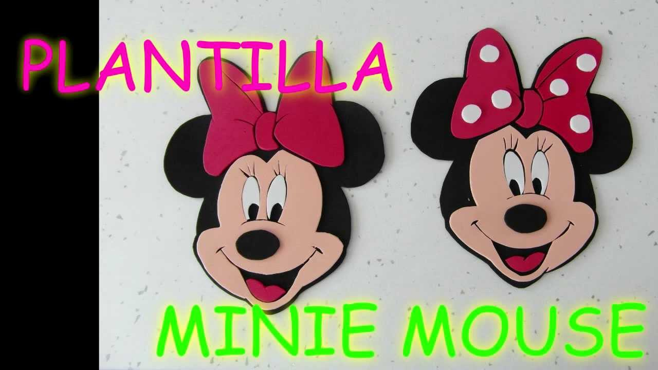 Manualidades plantilla minie mouse foami para bolso - Manualidades minnie mouse ...