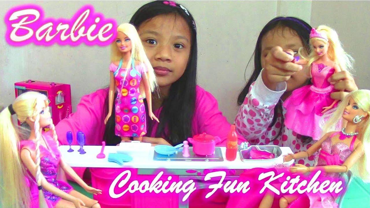 Barbie Kitchen Set  Mattel