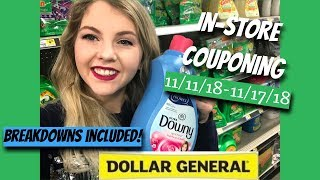 IN-STORE DOLLAR GENERAL COUPONING || 11/17/18 || PRINTABLE BREAKDOWNS INCLUDED