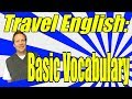 Frame from Travel English Vocabulary for Beginning English Learners! Get Ready to Take a Vacation!!