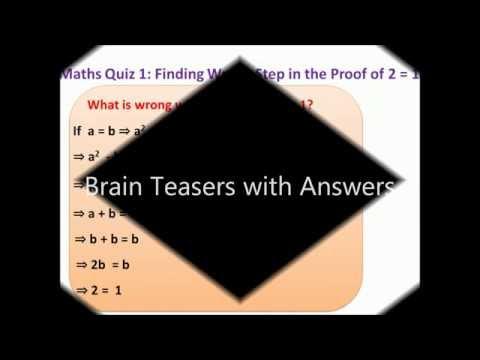 Maths Quiz: Challenging Brain teasers