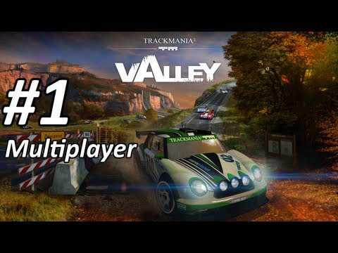 Let's Play TrackMania 2 Valley Part 1 Solo & Multiplayer - [Full-HD][Trackmania² Valley]