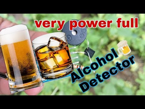 How to make a alcohol detector, very power full sensing device