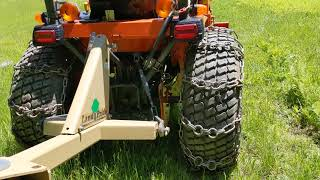 How to make a Kubota Tractor more stable on hills. Prevent tractor rollovers.