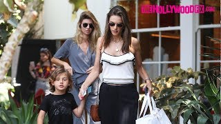Alessandra Ambrosio & Her Son Noah Go Shopping At Isabel Marant On Melrose Place 6.21.18