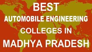 Best Automobile Engineering Colleges in Madhya Pradesh