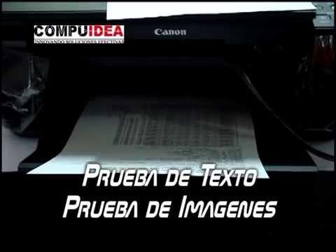 Funcionamiento de la Impresora Canon Mp280 con Sistema Compuidea de Tinta Continua