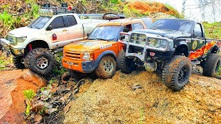 RC Cars UpHill Adventure — Ford F 350, Mitsubishi Pajero Tamiya, Land Rover Discovery 3 MST CFX