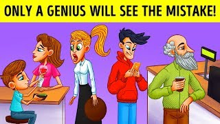 ONLY A GENIUS WILL FIND THE MISTAKES! FUN RIDDLES AND TRIVIA QUESTIONS