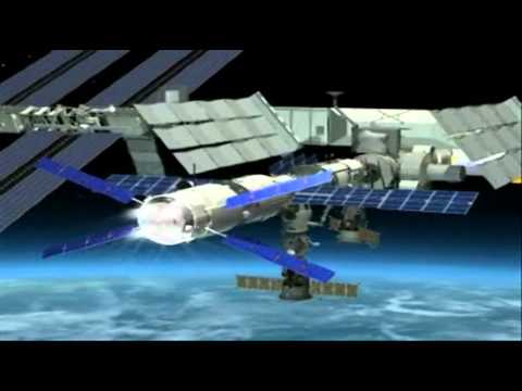 Animation of the ISS re-boost performed by Jules Verne ATV 2008