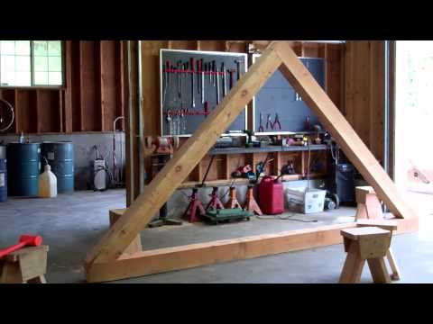 Trees To Timber Frame Cabin Off-grid Homestead Project Rafters