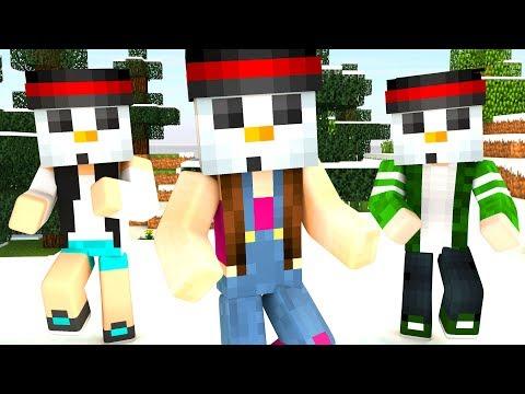 Nerdy Nummies Minecraft Snowman Cake