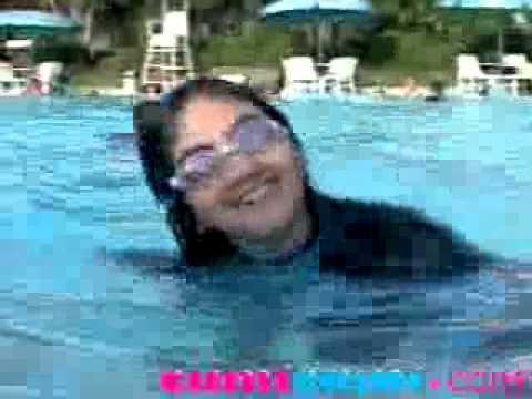 Amanda Berenang Agar Mencegah Anemia   CumiCumi com