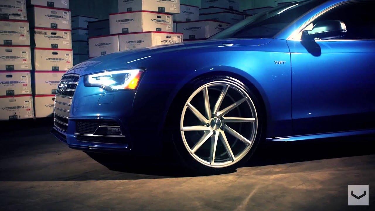 Audi S5 Vossen Cvt Directional Wheels Rims Youtube