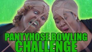Pantyhose Bowling Challenge! - GloZell