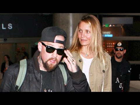 Cameron Diaz, Benji And Joel Madden Return Home From Australia