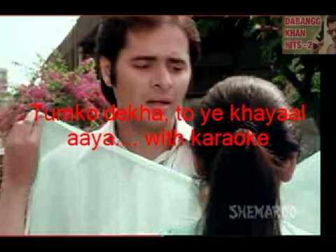 Tumko Dekha, To Ye Khayaal Aaya.... With Karaoke By Jitendra Dhasmana video