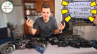 38 Vintage 35mm Cameras For £1 Each!! Buying Items To Sell Online on eBay & Amazon