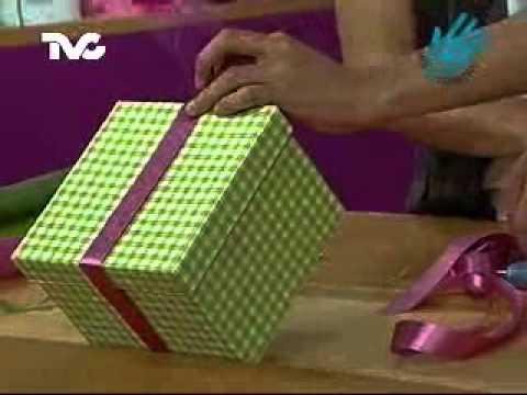 C mo hacer una cajita para regalo ec youtube - Como hacer una cajita con cartulina ...