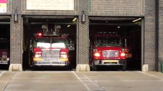 White Plains FD Car 2512 + Ladder 32 Responding