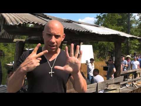 Vin Diesel - Fast and Furious 7 Day 1 on set