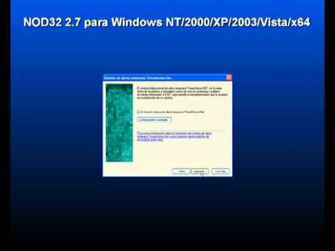 Hello dear and genter man this viedo is nod32 2.7 control center Antivirus.