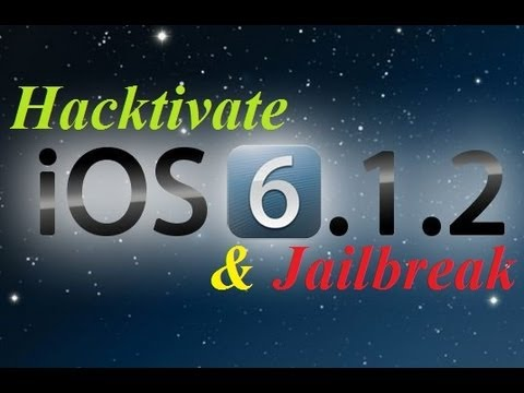 How To Jailbreak & Hacktivate 6.1.2 iPhone 4/3Gs Untethered Bypass Activation Screen No Sim Card