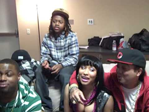 NICKI MINAJ AND LIL WAYNE'S YOUNG MONEY BACKSTAGE IN ST. LOUIS WITH I AM MUSIC TOUR Video