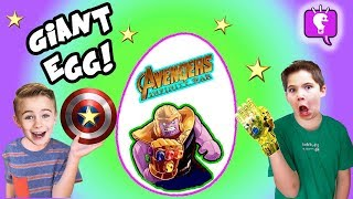 GIANT AVENGERS EGG with Nerf Blasters and Infinity LEGO Toy Surprises by HobbyKids