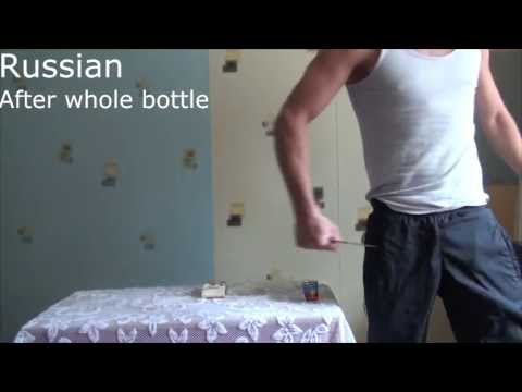 Vodka Drinking.  American vs. Russian