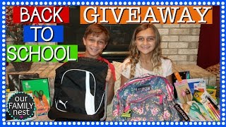 BACK TO SCHOOL SUPPLIES HAUL GIVEAWAY ♥ 1 for a BOY & 1 for a GIRL ♥