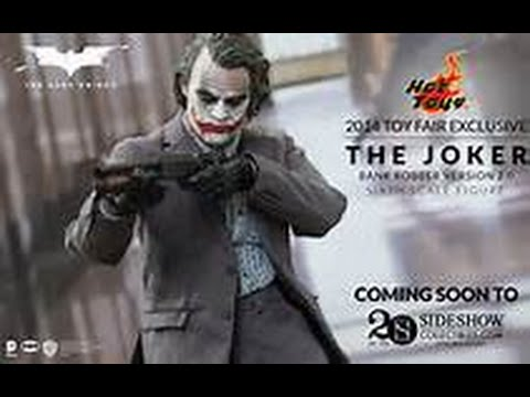 Hot toys the dark knight Bank robber 2.0 unboxing