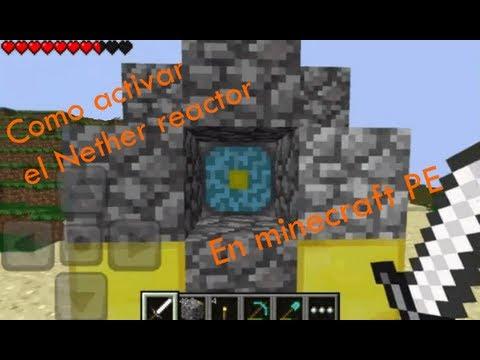Como Activar El Nether Reactor En Minecraft PE