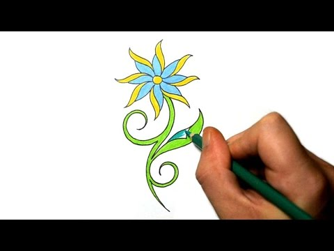 How to Draw a Cool Simple Daisy Flower Tattoo Design