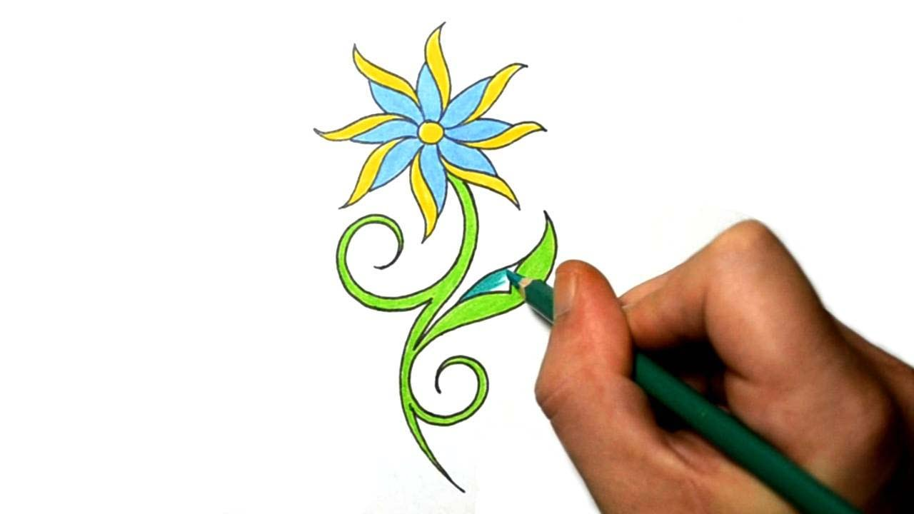 How to draw a cool simple daisy flower tattoo design youtube for How to draw a basic flower