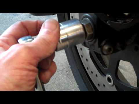 Delboy's Garage, 'How-To' Re-align motorcycle forks the easy way.